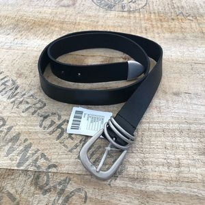 Urban Outfitters Metal-Tipped Black Leather Belt